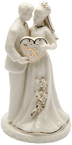 Cosmos Gifts 30715 Ceramic 50th Anniversary Couple Figurine