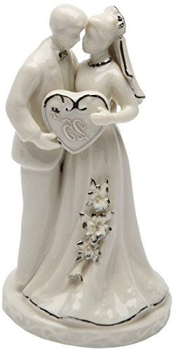 Cosmos Gifts 30716 Ceramic 25th Anniversary Couple Figurine,