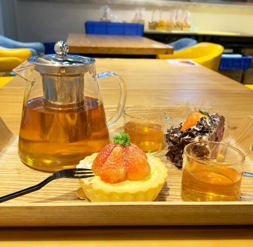32oz/43oz with Infuser + Cup Tea Set Stovetop Safe