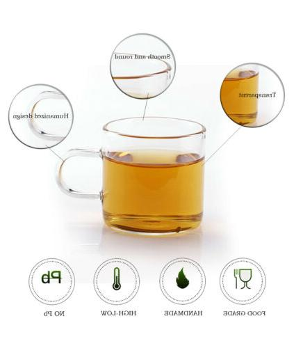 32oz/43oz Glass Teapot Infuser + Cup 4 Tea Set Stovetop Safe