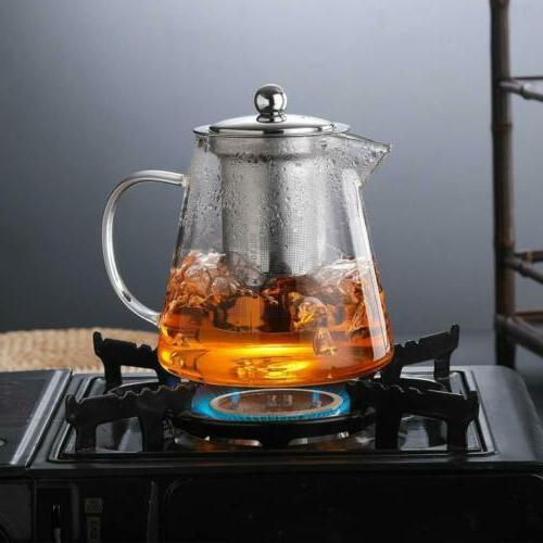 32oz/43oz Glass Infuser 4oz Cup of 4 Tea Set
