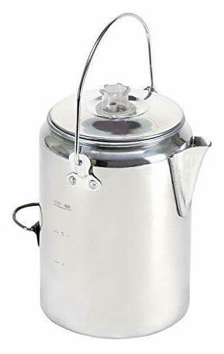 9 cup aluminum percolator camping rustproof cookware