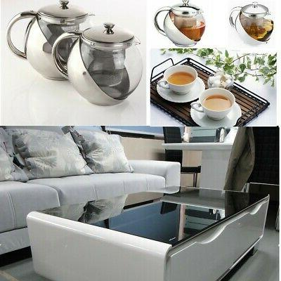 900ML Stainless TeaPot Leaf T