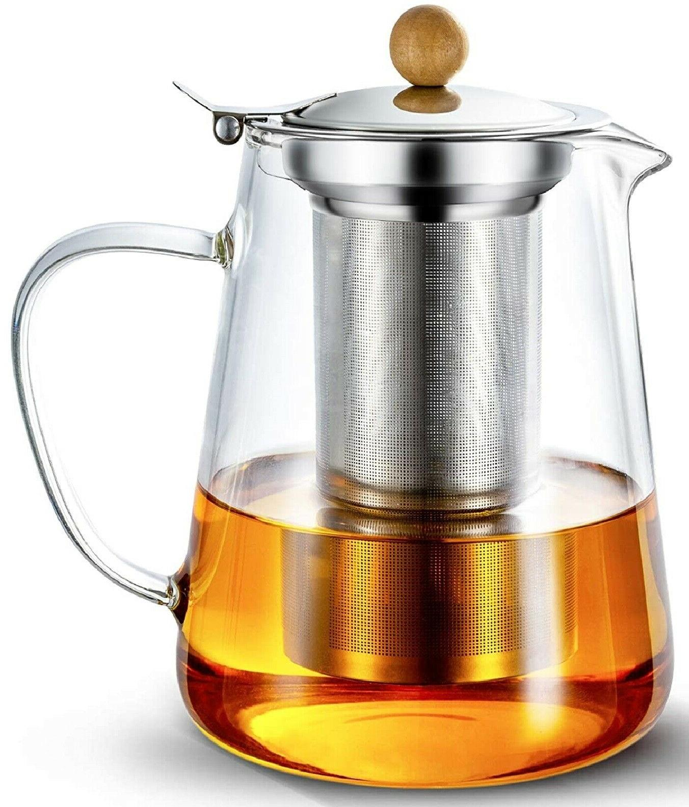 950ml 32oz glass teapot with infuser tea