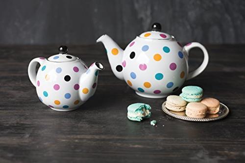 White Ceramic Globe 6 Teapot by London