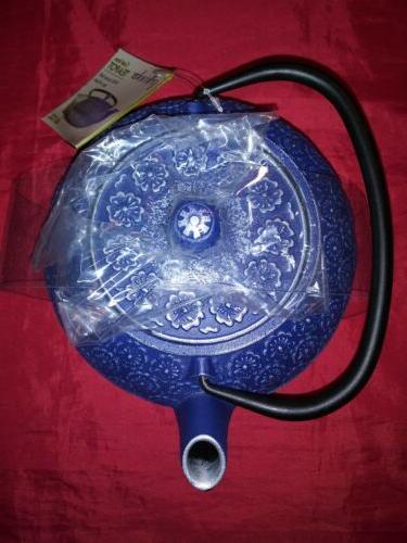 Primula Floral Iron Teapot Tea Infuser Kettle Pot NEW