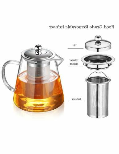 Glass Resistant Tea Kettle with Infuser 950ml/32oz
