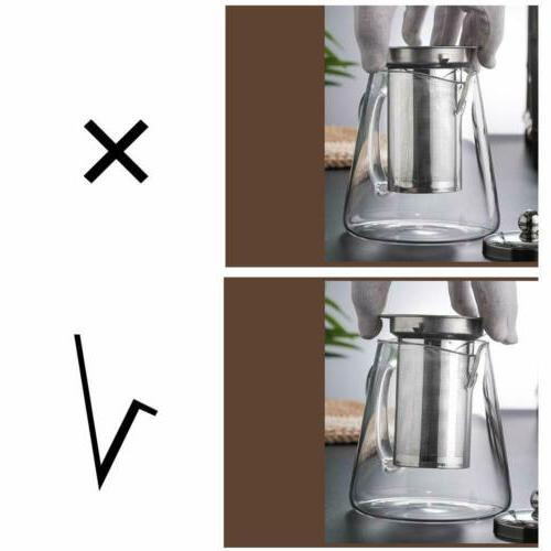 Glass Teapot Heat Resistant Tea Infuser