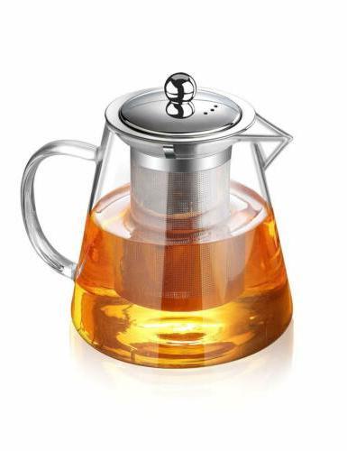 glass teapot heat resistant tea kettle