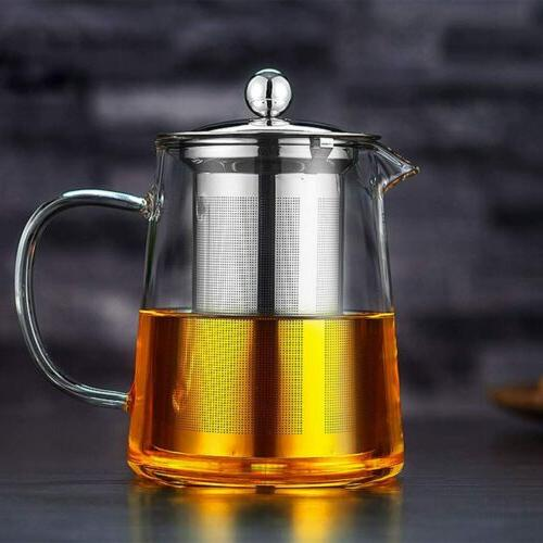 Glass Teapot with Infuser Stovetop Set