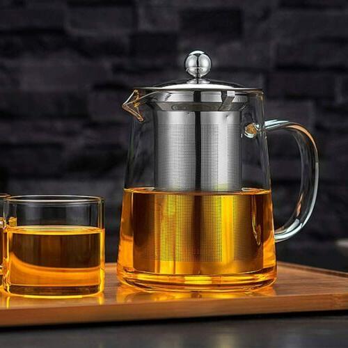 Glass Teapot Kettle Infuser Pot 32oz/950ML Stovetop Safe Set