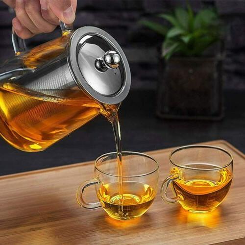 Glass Teapot Infuser Stovetop Set