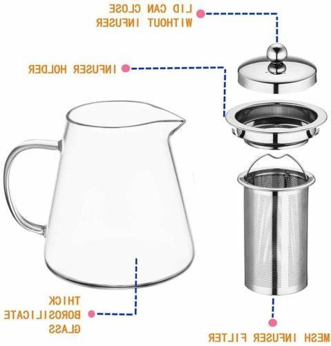 Glass Kettle Infuser Stovetop Set