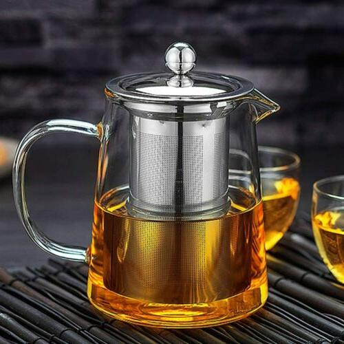 glass teapot kettle with infuser tea pot