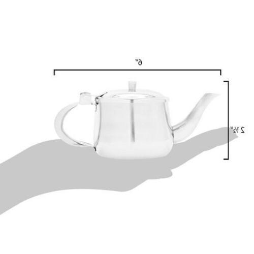 Teapot Metal Creamer Server 10oz Gooseneck