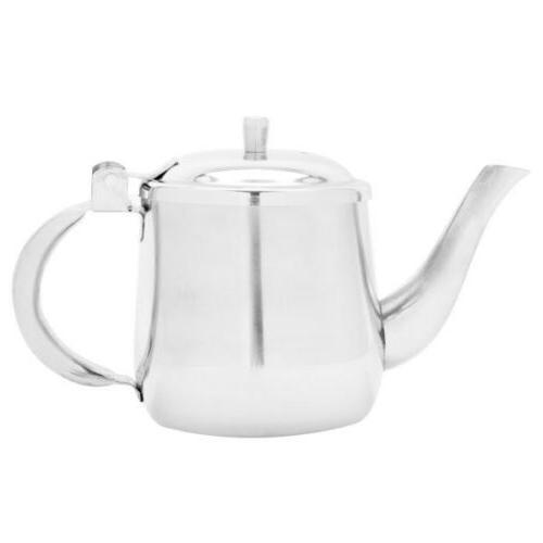 Teapot Pot Metal Stainless Steel Server 10oz Gooseneck