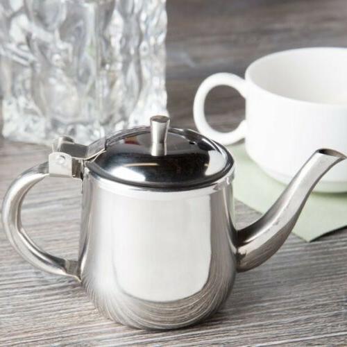Teapot Coffee Pot Kettle Metal Steel Creamer Server 10oz Gooseneck