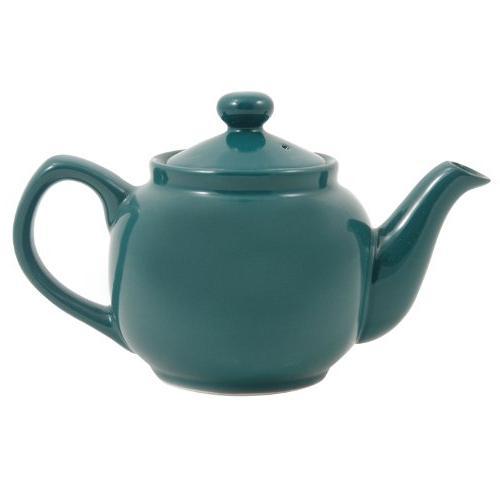 green classic ceramic teapot