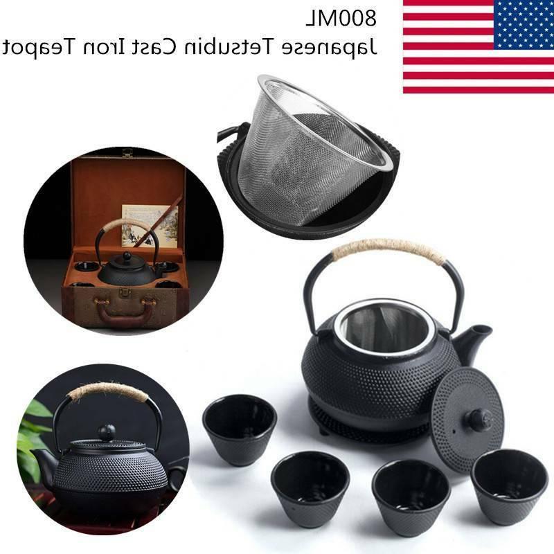 japanesetetsubin cast iron teapot set 0 8l