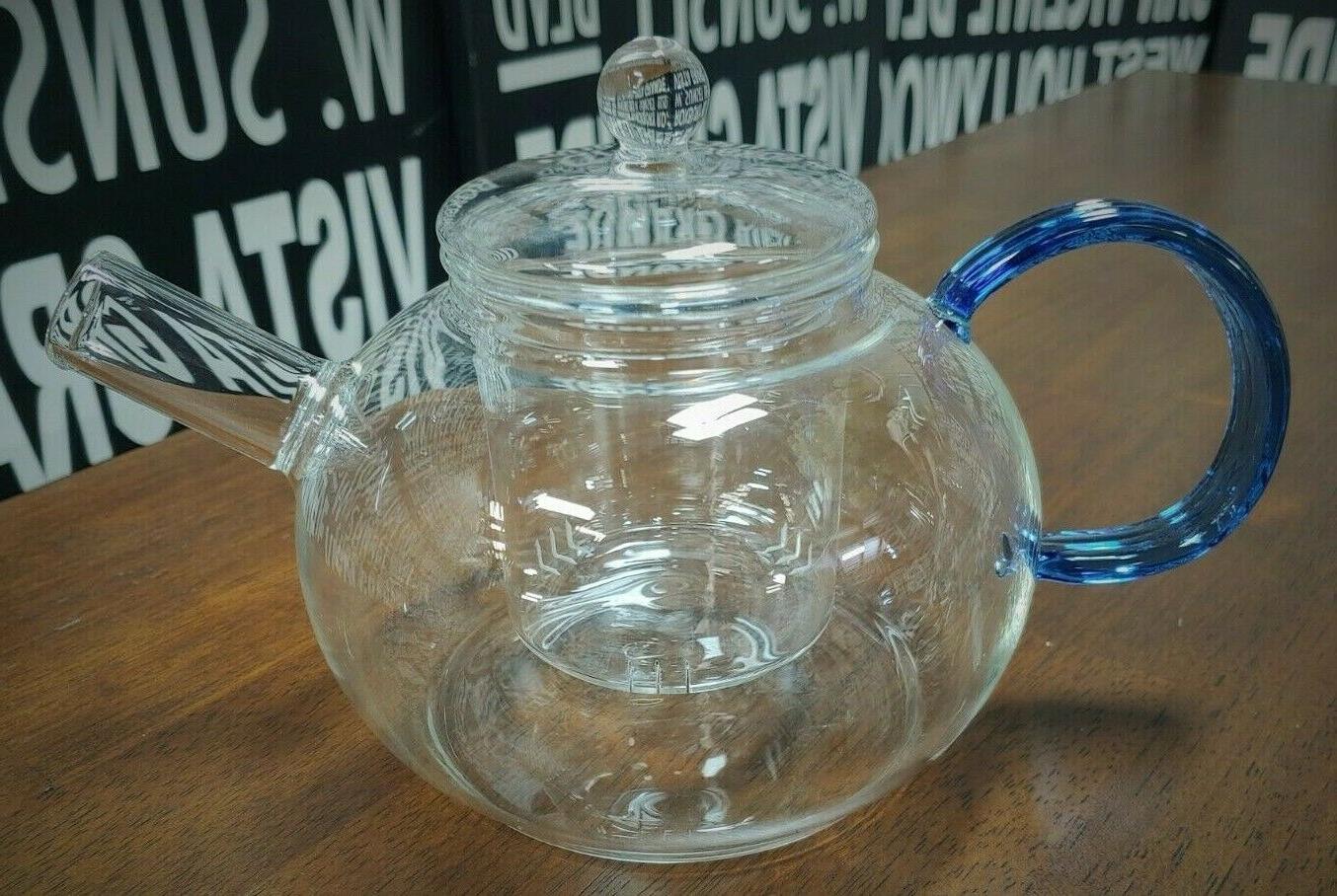 la bleu glass teapot with infuser 40