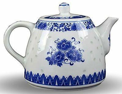 large teapot blue and white porcelain 6