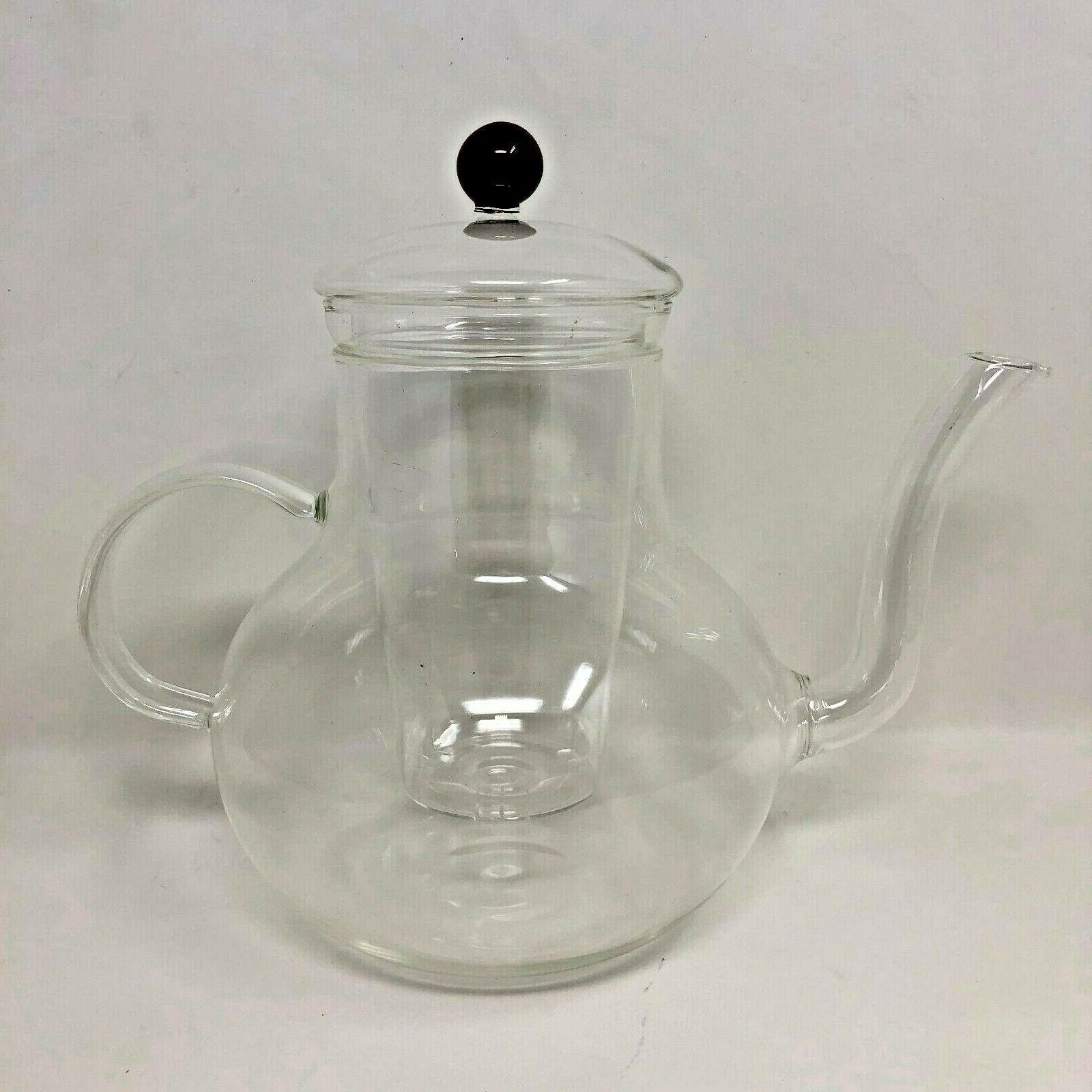 Fellini Marrakech Glass Teapot with Infuser | Red Colored |
