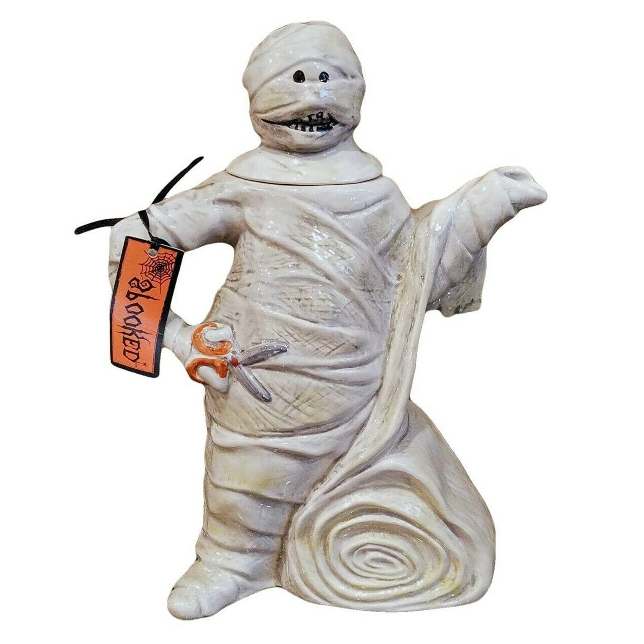 mummy teapot kitchen decorative halloween collectable goldmi