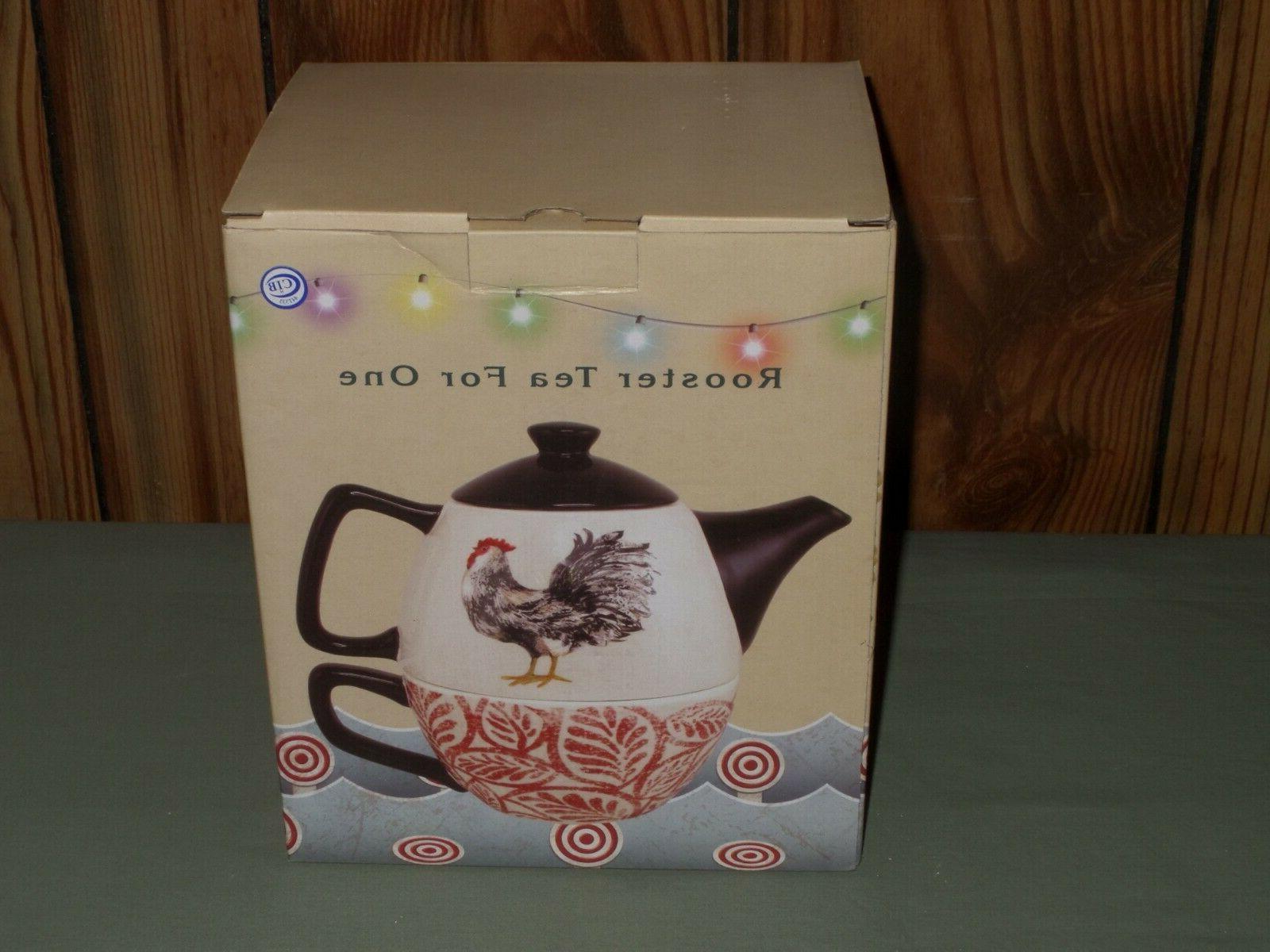 New Teapot & Cup Tea One 2 Piece NIB