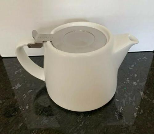 New Teavana Forlife Stump Infuser Teapot 18 oz Matte Blue 4o