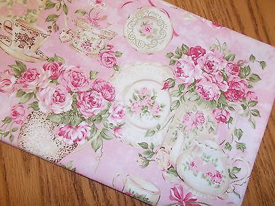 Roses Flowers runner handmade teapot