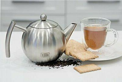 Venoly Stainless Steel Tea Pot With Removable Infuser For Loose Tea Bag