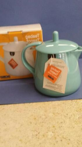 teabag teapot turquoise nib