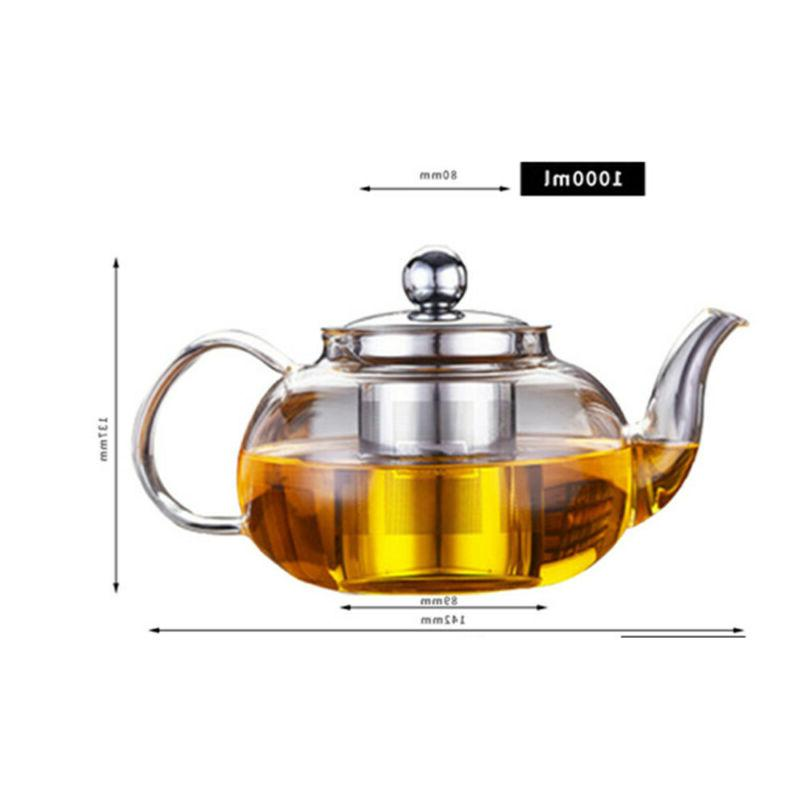 1000ml High Teapot Stainless Steel Loose Leaf Tea
