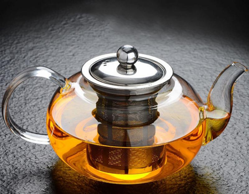 1000ml High Teapot Stainless Steel Loose Leaf