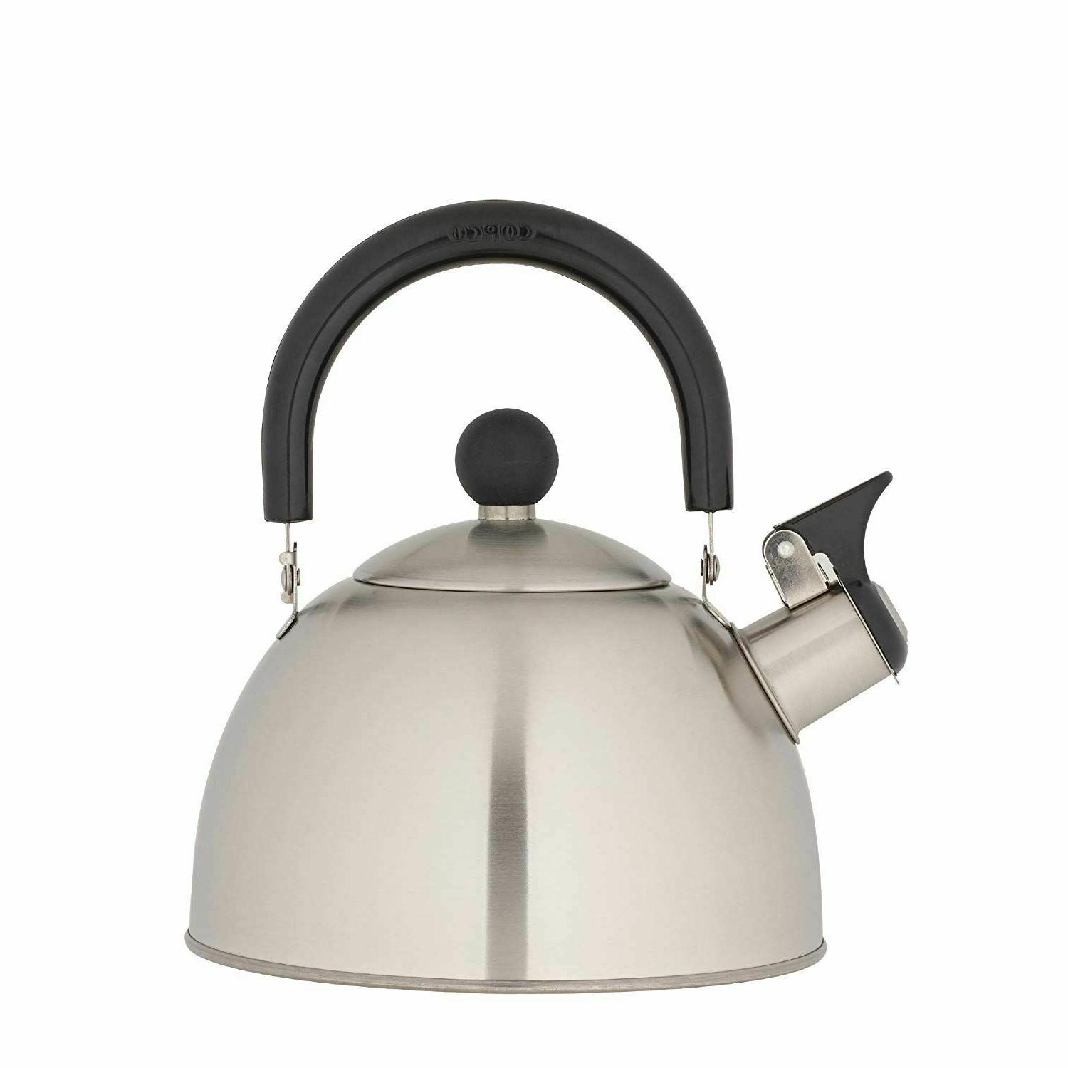 Whistling Tea Kettle Stainless Steel StoveTop Teapot Round T