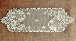 Lace Table Runners or Place Mats Tea Pots White or Ivory Kit