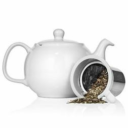 Saki Large Porcelain Teapot with Removable Stainless Steel I