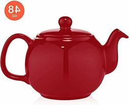 Large Porcelain Teapot with Removable Stainless Steel Infuse