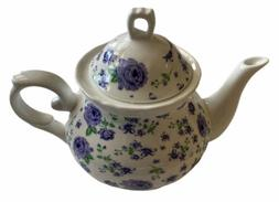 Lavender Field Teapot with Lid 16 OZ Purple Floral NEW In op