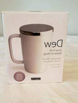 NIB For Life Dew Tea Cup w/Lid Single Pot Loose Tea Brewing