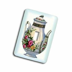 3dRose LSP_43813_1 Victorian Floral Teapot Toggle Switch