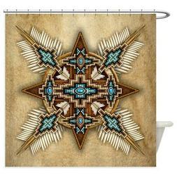 CafePress Native American Style Mandala 26 Shower Curtain