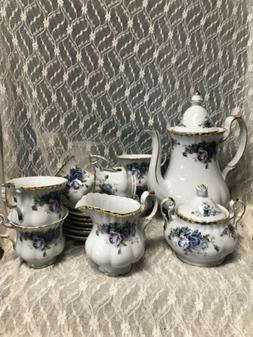 NEW Cosmos USA Import Teaset Teapot Cup Saucer Sugar Creamer