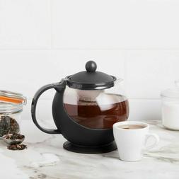 NEW CHOICE TEAPOT 25 oz GLASS CARAFE TEA POT, REMOVABLE STAI