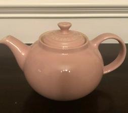 NIB Le Creuset Satin Pink Large Teapot 1 Quart .7 Liter Tea
