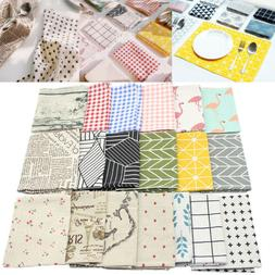 Nonslip Cotton Linen Table Mat Kitchen Placemat Dining Home