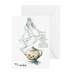 CafePress Ode To A Teapot Greeting Card