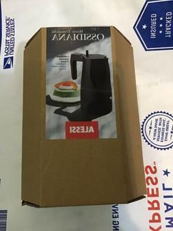 Alessi Ossidiana Espresso Coffee Maker Black - 3 Cup -
