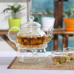 Practical Teapot Heat-Resisting Teapot Warmer Base Glass Ins