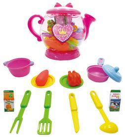 Mozlly Princess Teapot Kitchen Set Pretend Girl Toy - Color